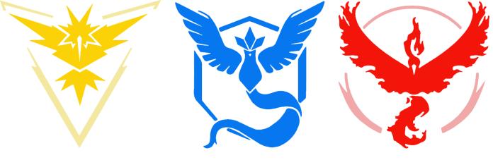 Pokemon GO team instinct mystic valor