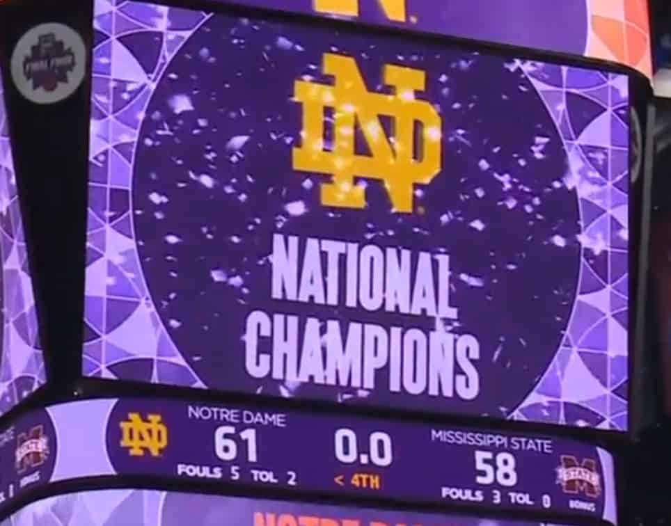 Irish eyes are smiling over Notre Dame women's basketball ...